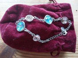 Stroili Silver Bracelet light pink-light blue