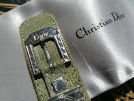 Christian Dior Skórzane ozdoby na ręce  srebrny-zielono-szary