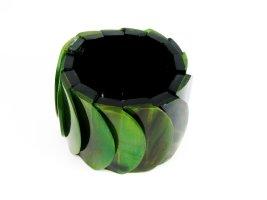 Armband Wasserbüffel Horn in grün NEUWERTIG
