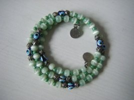 Armband Wickelarmband Spiralarmreif aus Glasperlen