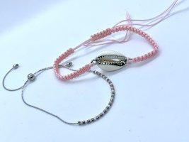 Friendship Bracelet pink-light grey