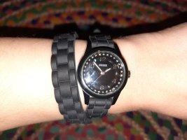 Guess Zegarek analogowy czarny-srebrny