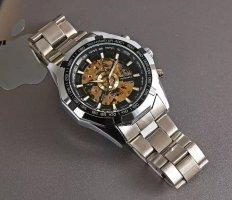 SmD Zegarek automatyczny czarny-srebrny