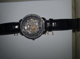 -8- Venice Horloge met lederen riempje veelkleurig