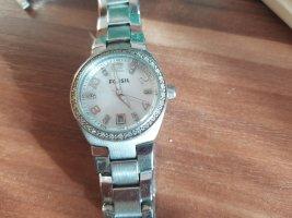 Fossil Reloj analógico blanco-color plata