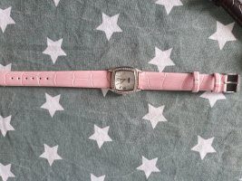 Diesel Watch With Leather Strap pink