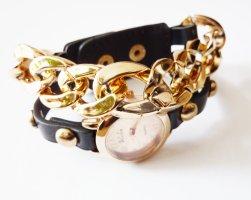 Armbanduhr Panzerarmband golden