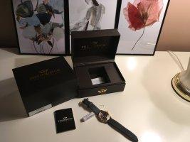 Analoog horloge donkerblauw kunststof