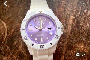 s.Oliver Reloj digital blanco-lila