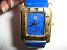Digital Watch blue-gold-colored