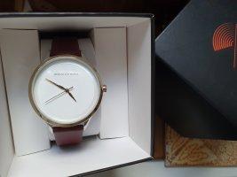 Armani Exchange Horloge met lederen riempje veelkleurig