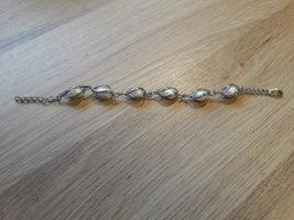 Armband met parels wit-zilver Metaal