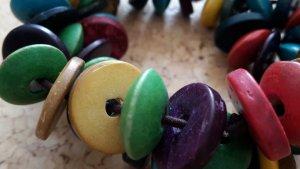 Armperlen bunt aus Holzperlen- Holz -