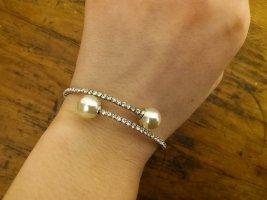 Bangle white-silver-colored