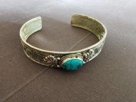 Braccialetto argento-turchese