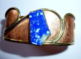 Sztywna bransoletka jasnoczerwony-niebieski