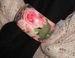 Armreif H&M Armband Holz Blumen Blüten Flowers Vintage Hippie NEU XS S 34 36