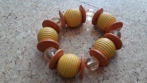 Armreif orangsch - Modeschmuck - Holzperlen - Perlen