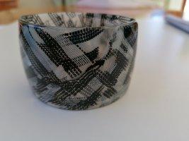 Ajorca negro-color plata