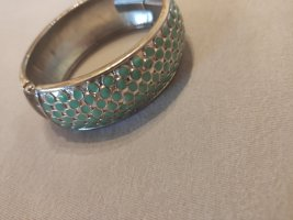 Mouwband zilver-turkoois