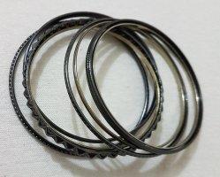 Bangle black-silver-colored