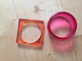 Armreifen in Pink und Orange