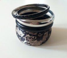 H&M Braccialetto nero-argento