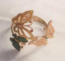 Armspange Armschmuck Schmetterlinge gold/rose/gelb/grün Strassperlen