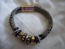 Armlet black brown-silver-colored