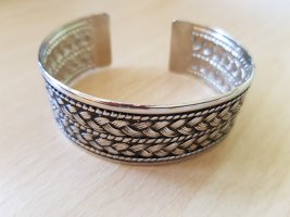 Sztywna bransoletka czarny-srebrny