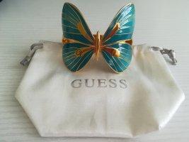 Armspange Schmetterling goldfarben/türkis von Guess