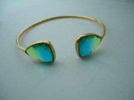 Bracelet de bras vert gazon-bleu fluo