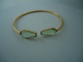Sztywna bransoletka złoto-jasnozielony