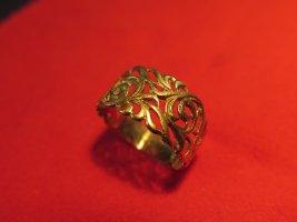 Gold Ring gold orange real gold