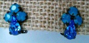 Vintage Klips niebieski neonowy-turkusowy