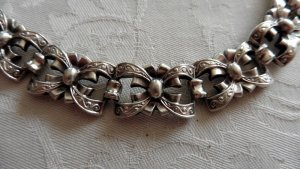 Bracelet silver-colored mixture fibre