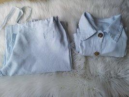 Pantalón de lino azul celeste