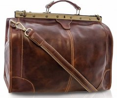 Tuscany Leather Borsa da weekend cognac Pelle