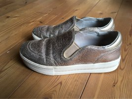 ASH Slip-on Sneakers silver-colored-gold-colored leather