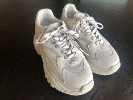 ASH Platform Trainers white-mint leather