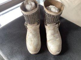 ASH Stivale a gamba corta bianco sporco