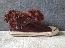 ASH Chucks Vanna Fold-Over High-Top Sneaker blogger Lammfell shearling winter