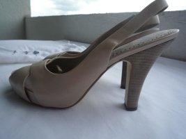 ASH High Heel Sandale mit Plateau nude, Gr. 38