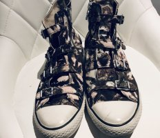 ASH Lace-Up Sneaker khaki leather