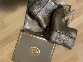 Botas bajas color bronce-color oro