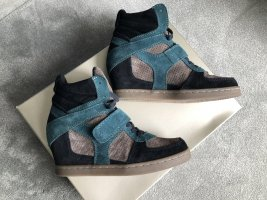ASH Wedge Booties multicolored leather