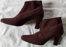 Ashley Brooke Slip-on Booties bordeaux