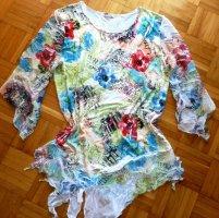 ASHWI Paris Shirt Tunic white-cornflower blue