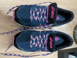 Asics Sneakers met veters donkerblauw-violet