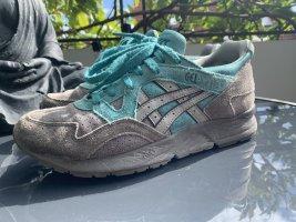 Asics Basket à lacet gris-turquoise